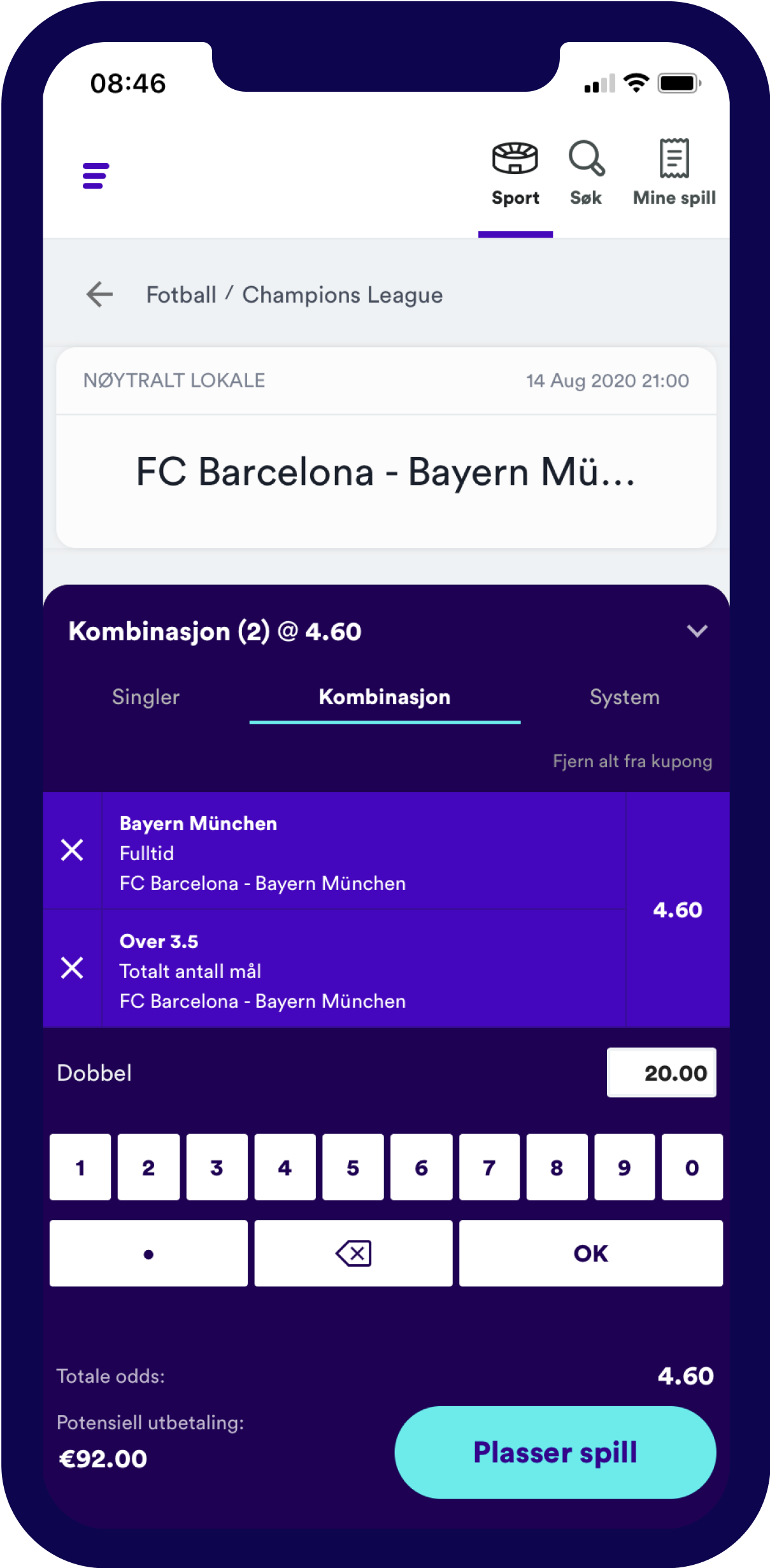 NO Sports LoS Bet Builder