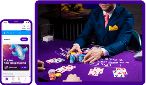 Play live casino on the phone or tablet via the Casumo app